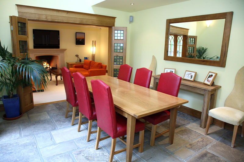 Image of Dining area to new Neo-Gothic style house, Kenley, Surrey