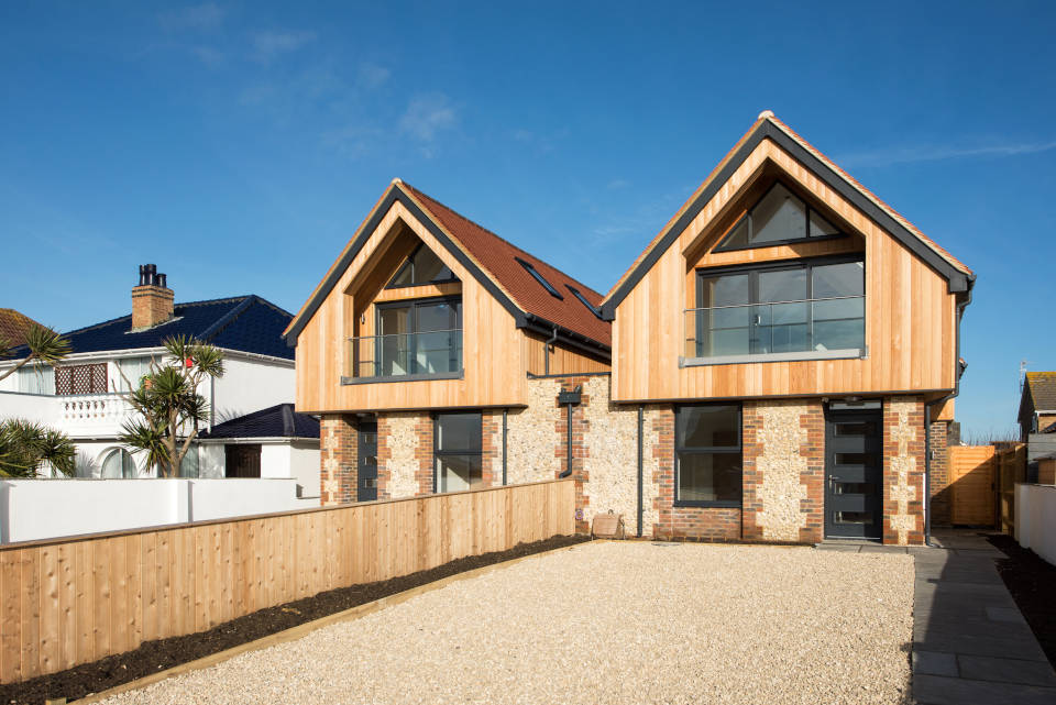 Old Fort Road Shoreham: Two luxurious new homes were built in Old Fort Road, Shoreham by THS Homes Ltd..