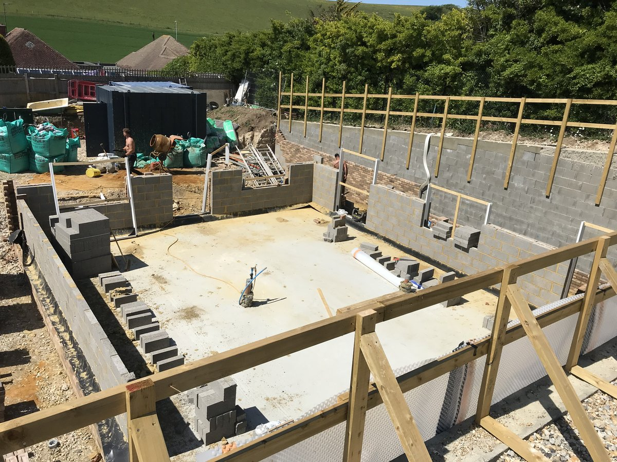 Image of Greenways New Build Development in Ovingdean, Sussex Takes Shape