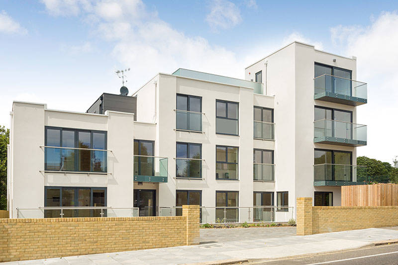 Image details: A new build deveiopment of luxury apartments on the Sussex Coast