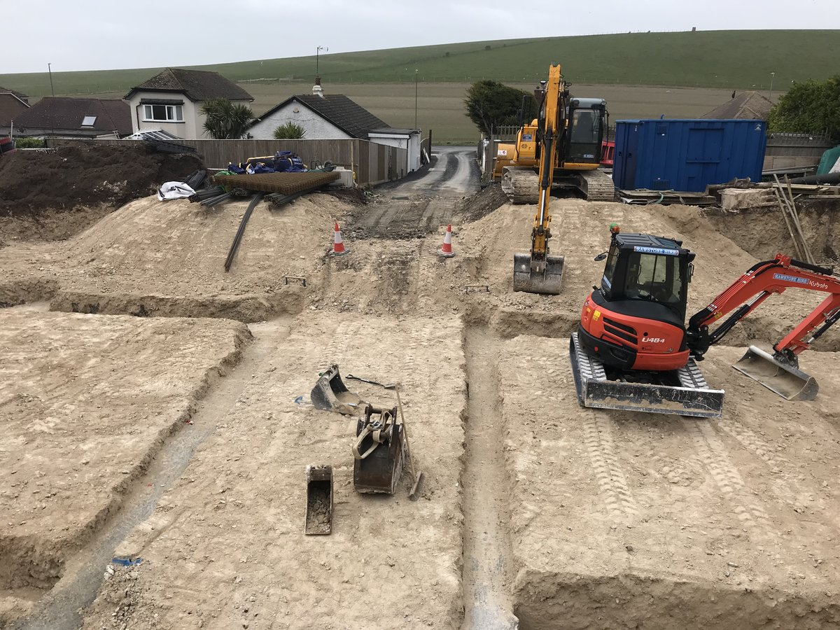 Image of Groundwork progresses in readiness for this new build project in Ovingdean.