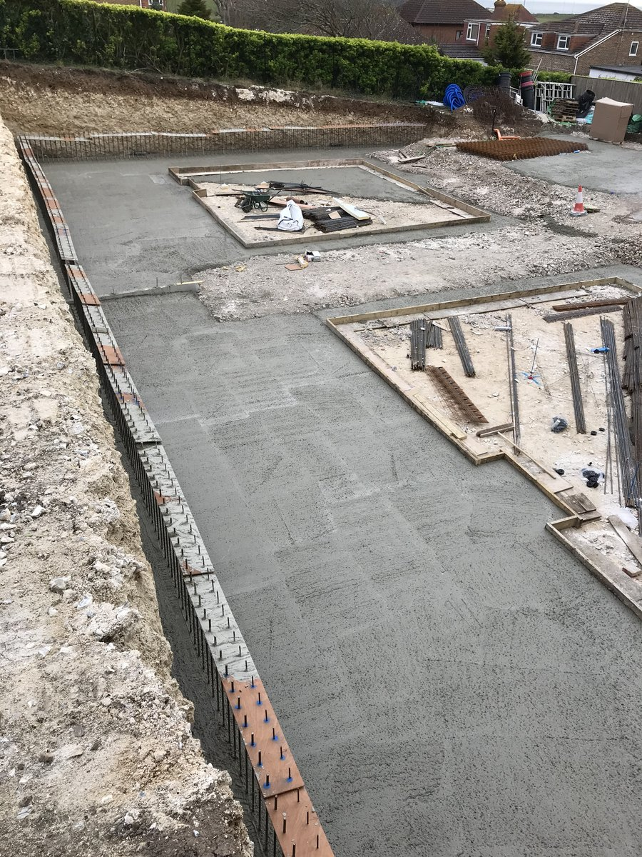 Image of With the steel reinforcement in place, the concrete can be poured